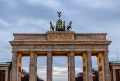 Puerta de Brandenburgo en Berlín Imagenes de archivo
