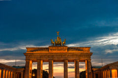 Puerta de Brandenburgo en Berlín Imagen de archivo