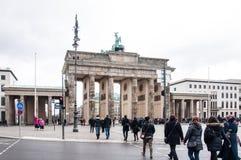 Puerta de Brandenburgo en Berlín Fotos de archivo libres de regalías