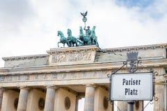 Puerta de Brandenburgo en Berlín, Alemania Imagen de archivo