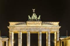 Puerta de Brandenburgo en la noche Fotografía de archivo libre de regalías