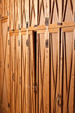 Puerta de cabina combada Imagen de archivo
