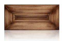 Puerta de cabina de madera Imágenes de archivo libres de regalías