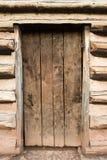 Puerta de cabina rústica fotografía de archivo libre de regalías