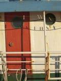 Puerta de cabina vacía del brfore de las clavijas Fotos de archivo