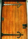 Puerta de caoba sólida Fotografía de archivo libre de regalías