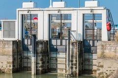 puerta de cerradura del agua de Noirmoutier Fotos de archivo