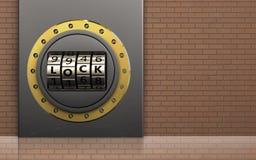 puerta de cerradura del código de la puerta de cerradura del código 3d Fotos de archivo