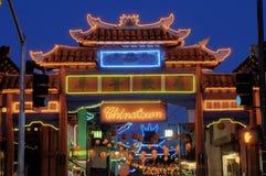 Puerta de Chinatown Foto de archivo libre de regalías