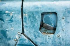 Puerta de coche vieja del primer Imagen de archivo libre de regalías