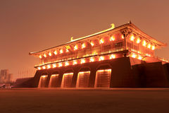 Puerta de Dangfeng de la vista daming de la noche del palacio Imágenes de archivo libres de regalías
