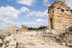 Puerta de Domitian en Hierapolis Imagen de archivo
