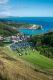 Puerta de Durdle, Dorset en Reino Unido, sitio jurásico del patrimonio mundial de la costa fotos de archivo libres de regalías