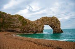 Puerta de Durdle en la costa jurásica de Dorset, Inglaterra Imagen de archivo