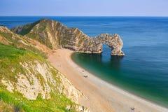Puerta de Durdle en la costa jurásica de Dorset, Reino Unido Foto de archivo