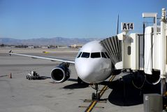 Puerta de embarque en el aeropuerto Fotos de archivo libres de regalías