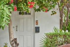 Puerta de entrada con el número dos Imagen de archivo libre de regalías