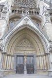 Puerta de entrada de la abadía de Westminster, Westminster, Londres Imagenes de archivo