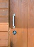 Puerta de entrada de madera vieja Fotografía de archivo