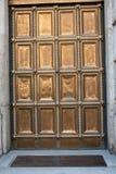Puerta de oro pesada Fotografía de archivo