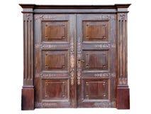Puerta de entrada del vintage adornada con hierro labrado Fotografía de archivo