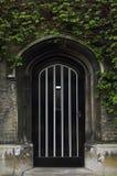Puerta de entrada inglesa vieja típica con la hiedra Foto de archivo libre de regalías