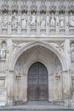 Puerta de entrada principal de la abadía de Westminster, Londres Imagenes de archivo