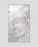 Puerta de entrada vidriosa en fondo a cuadros Imágenes de archivo libres de regalías