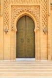 Puerta de entrada vieja en el palacio real en Marruecos Fes Fotos de archivo