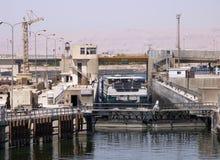 Puerta de esclusa en el Nilo Imágenes de archivo libres de regalías