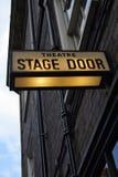 Puerta de etapa del teatro Foto de archivo