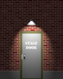 Puerta de etapa del teatro stock de ilustración
