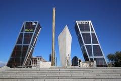 Puerta de Europa. Мадрид Стоковое Изображение RF