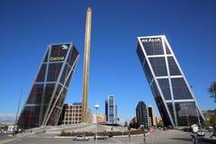 Puerta de Europa. Madrid Imagen de archivo libre de regalías