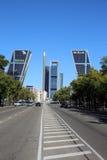 Puerta de Europa. Madrid Stock Image