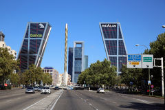 Puerta de Europa. Madrid Stock Photo