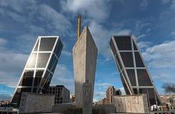Puerta de Europa, Madrid Royalty Free Stock Image