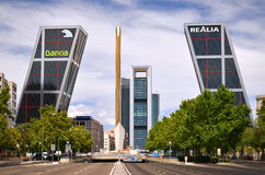 Puerta de Europa in Madrid, Spain. Stock Photography