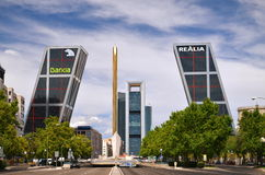 Puerta de Europa in Madrid, Spain. Royalty Free Stock Photography