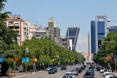 Puerta DE Europa in Madrid, Spanje Sightseeing, poort Stock Foto's