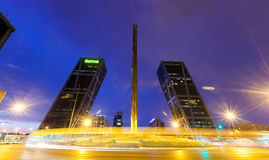 Free Puerta De Europa Towers And Caja Madrid Obelisk Stock Images - 41572814
