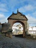 Puerta de Felipe V in Ronda. Gate of Philip V in Ronda, Spain Stock Image