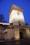 Puerta de Florian en Kraków Imagen de archivo