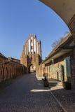 Puerta de Friedland de Neubrandenburg, Mecklenburg, Alemania Imágenes de archivo libres de regalías