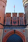Puerta de Friedrichsburg - fuerte alemán viejo. Kaliningrado (hasta el 1946 Koenigsberg), Rusia Fotografía de archivo