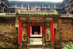Puerta de Fujian Tulou Fotos de archivo
