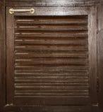 Puerta de gabinete de madera Imagen de archivo