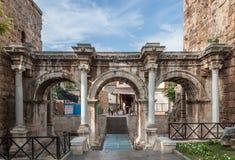 Puerta de Hadrian Foto de archivo libre de regalías