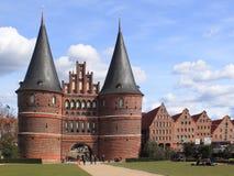 Puerta de Holsten en Lubeck Imagenes de archivo
