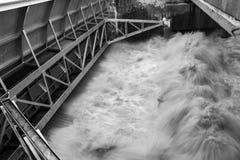 Puerta de inundación abierta Imágenes de archivo libres de regalías
